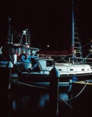 All quiet - fishing fleet at Geelong Port