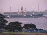 Grain Pier at dusk