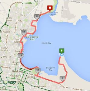 map my ride corio bay route