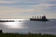 Bulk carrier near St Helen's, Geelong