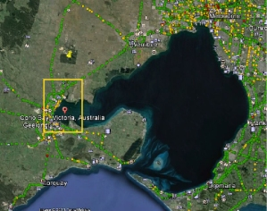 Port philip google e w corio bay marked
